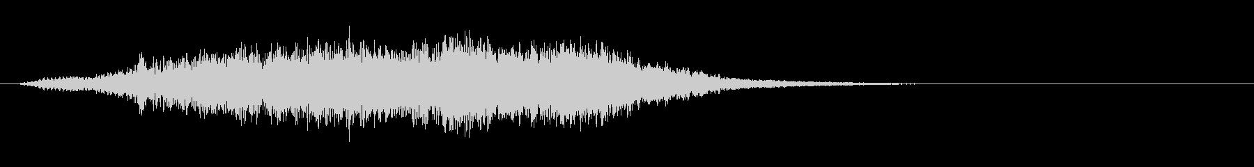 上品なストリングスサウンドロゴの未再生の波形