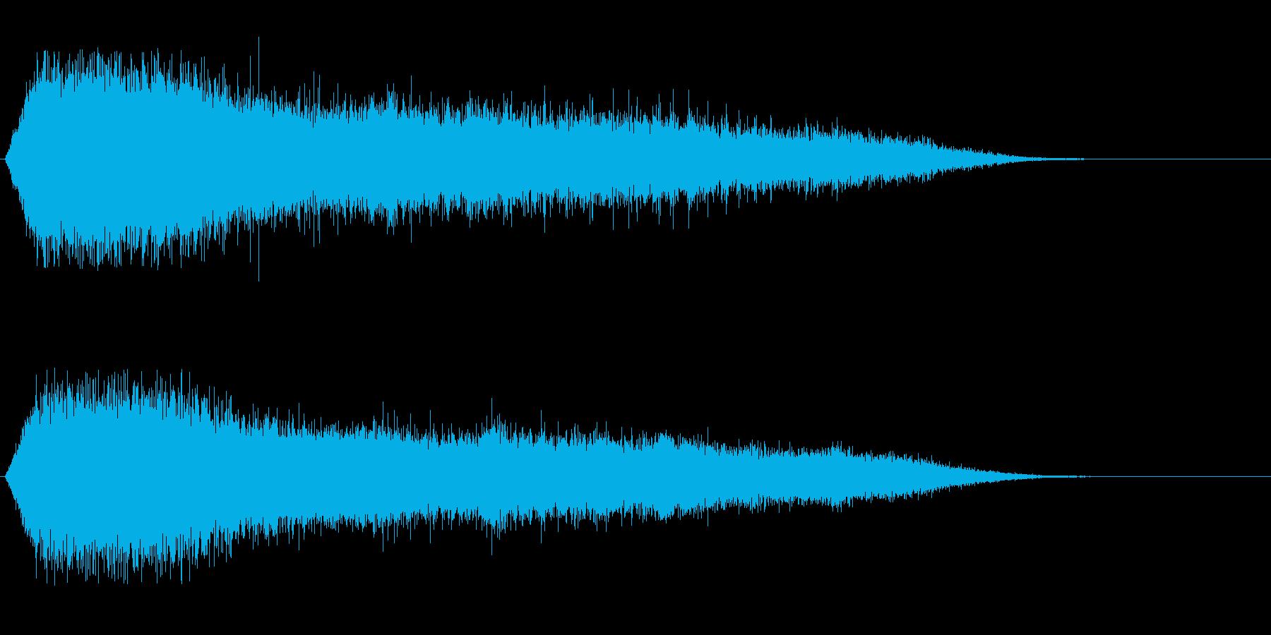 歓声4 (スタジアムなどの大歓声1)の再生済みの波形