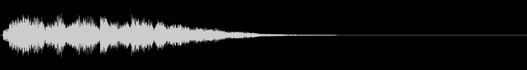 タイトルSE(穏やかな音)の未再生の波形