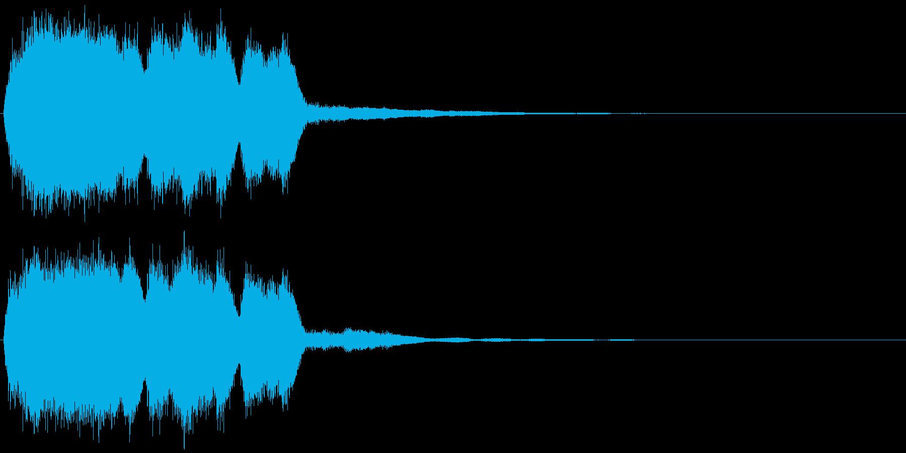 ヒュイィーン_場面やカットの変更音の再生済みの波形