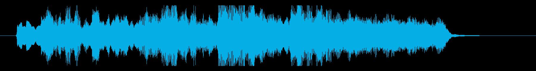 ストリングスメインの爽やかなアイキャッチの再生済みの波形