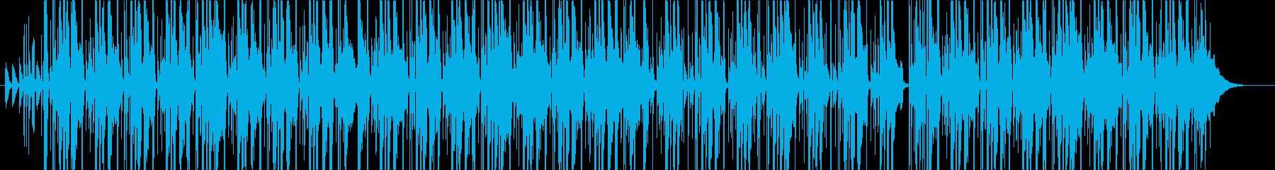 おしゃれで気怠いヒップホップBGMの再生済みの波形