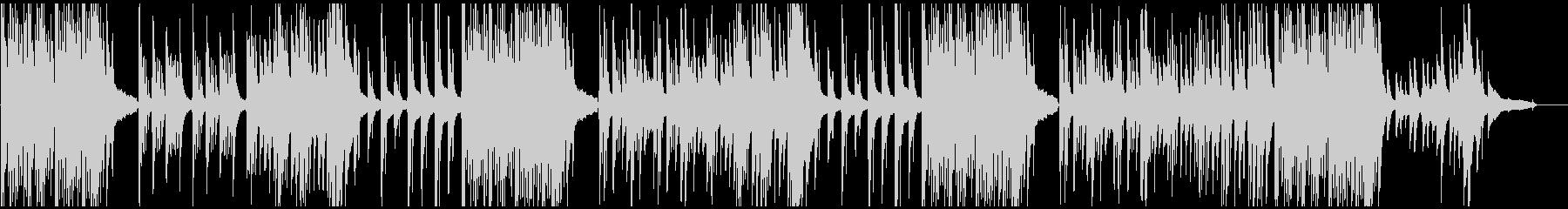 3拍子のピアノソロ曲の未再生の波形