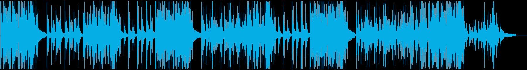 3拍子のピアノソロ曲の再生済みの波形
