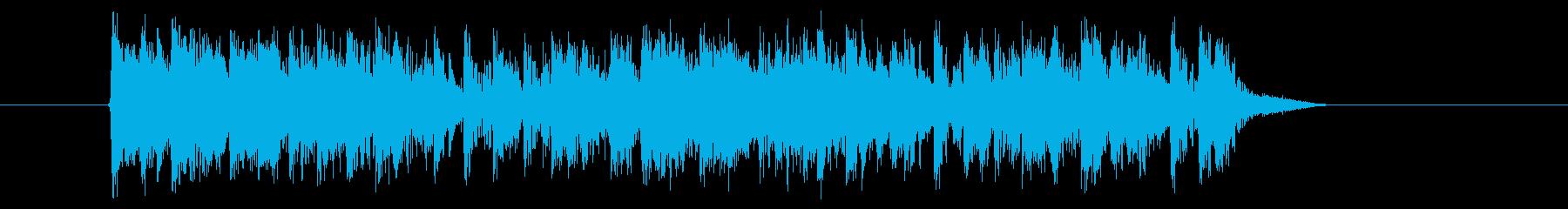 スピード感あふれるテクノの再生済みの波形