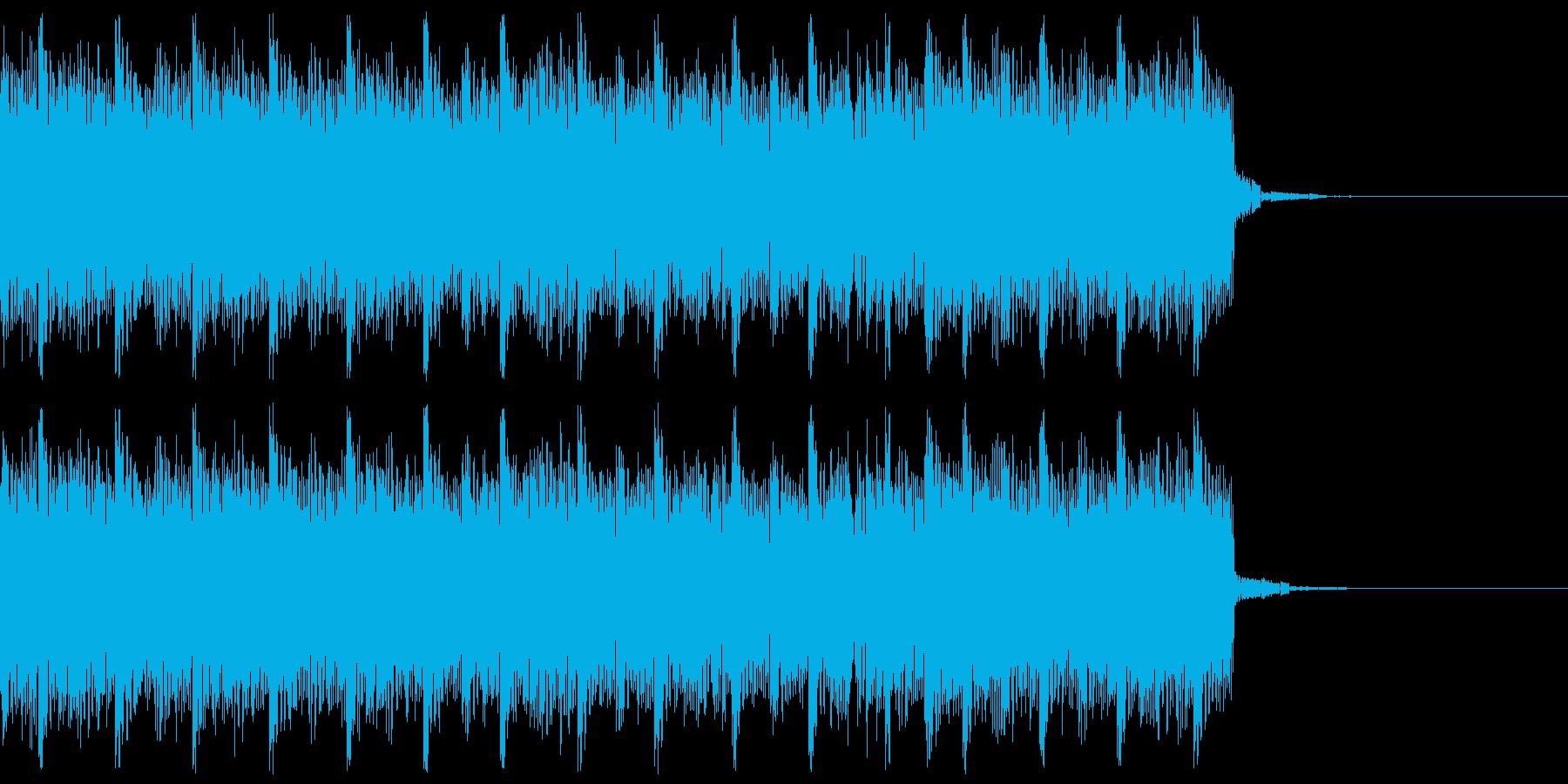 デジタル、CG、SFX等の映像ショート④の再生済みの波形