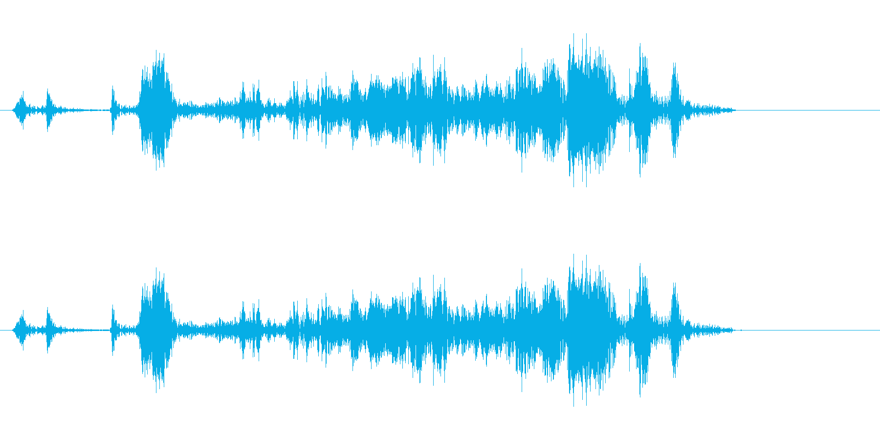 シャッター音 カメラ カシャ(効果音)の再生済みの波形