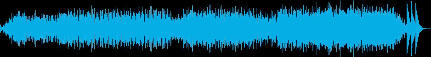 時計の秒針や鐘の鳴るホラーチックな曲の再生済みの波形