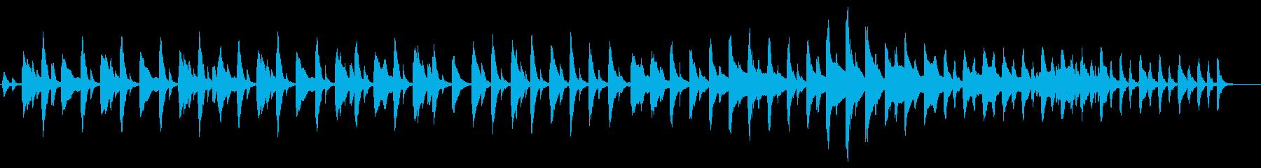 ハープのゆったりしたテンポの静かな曲の再生済みの波形