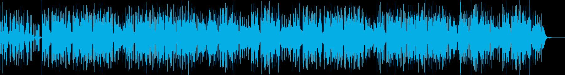 ゆったり落ち着いたヒップホップ系BGMの再生済みの波形