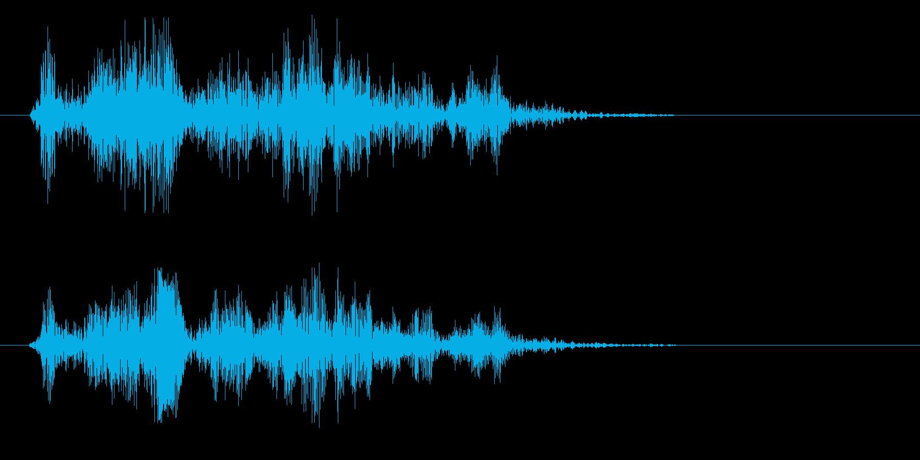 ジャリッ(摩擦音 陶器が擦れる音)の再生済みの波形
