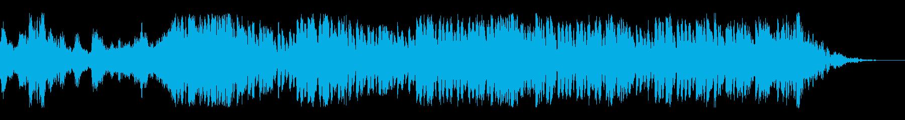 FPSゲームの準備中のようなBGMの再生済みの波形