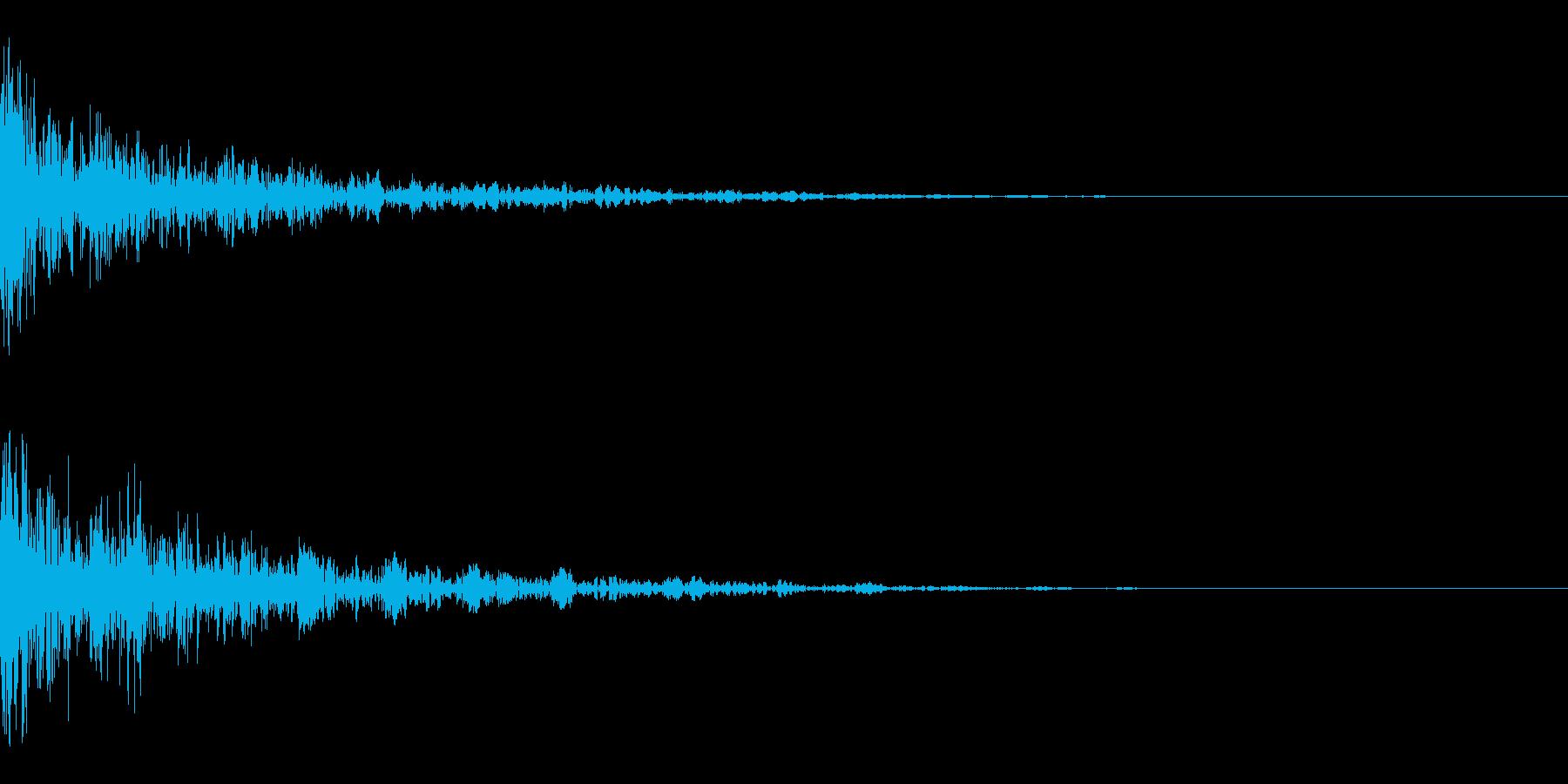 ドーン-36-2(インパクト音)の再生済みの波形