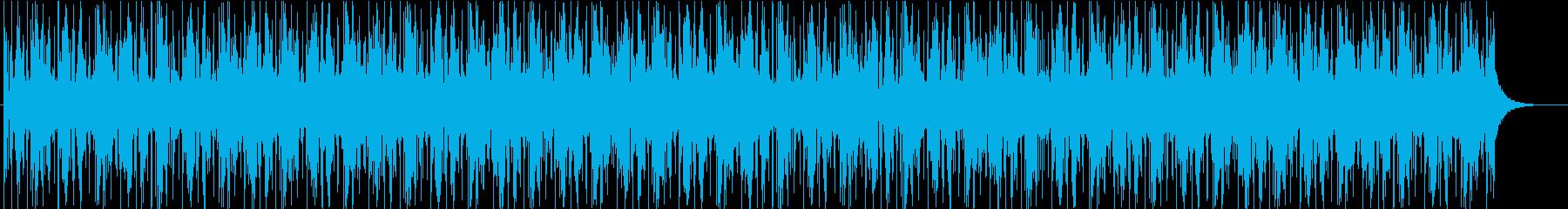 ダークで近未来的な映像広告向けグリッチの再生済みの波形