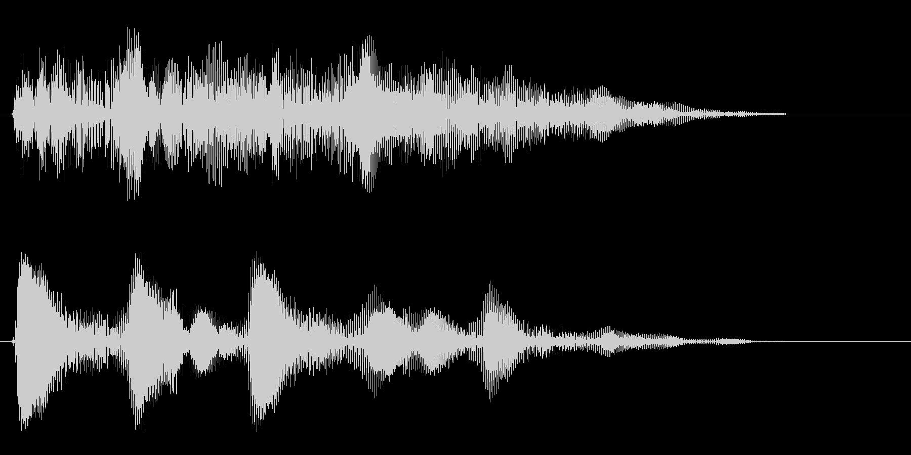 ポポポポポ〜ン(連打音)の未再生の波形