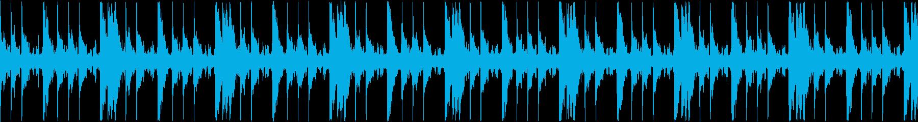 退廃的な雰囲気のドラムと電子音のループの再生済みの波形