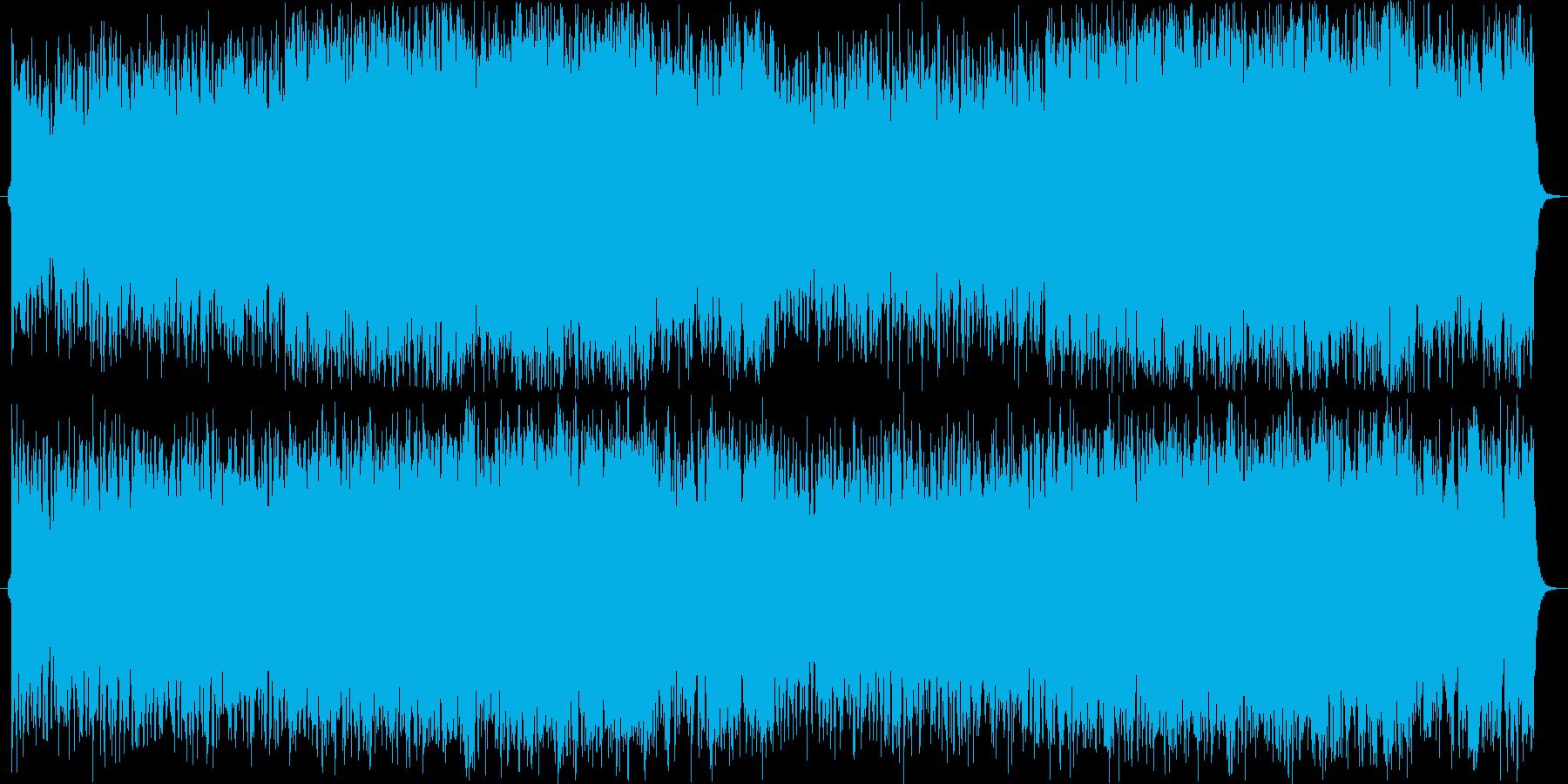 ロックで力強く哀愁のあるオーケストラ曲の再生済みの波形