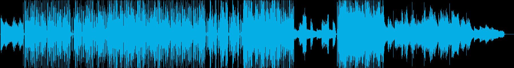 エレクトロファンク、女性ボーカル英語詞の再生済みの波形