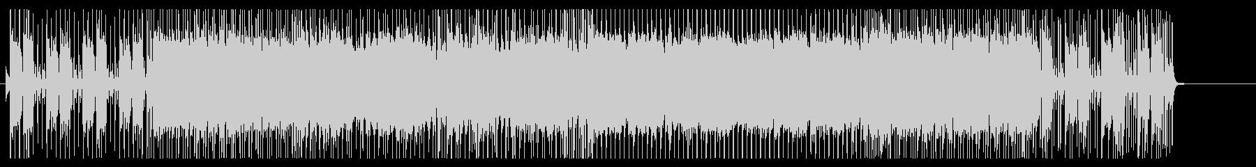 アップテンポのギターロックの未再生の波形