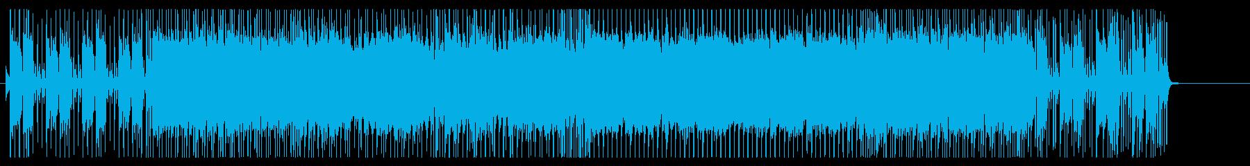 アップテンポのギターロックの再生済みの波形