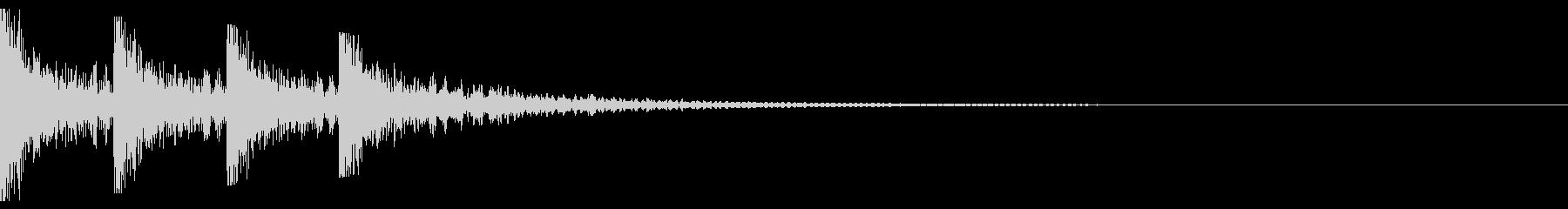 銭形警部登場イメージ_和風に太鼓でドンの未再生の波形