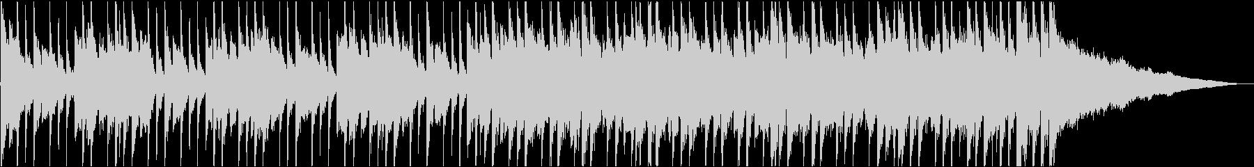 ピアノとエレキギターの明るい映像用BGMの未再生の波形