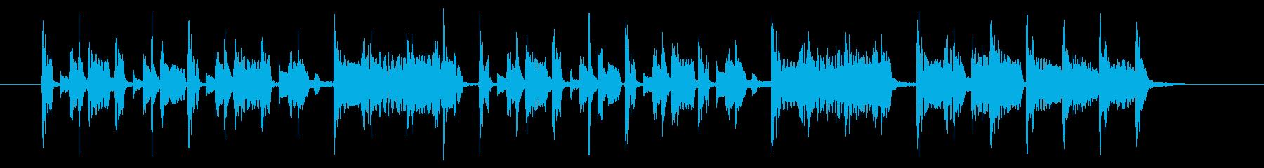 楽しげでリズミカルなシンセサウンド短めの再生済みの波形