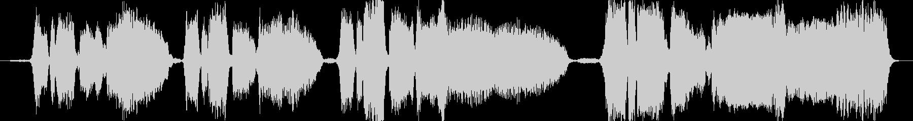 バースデーソングを生の4声アカペラでの未再生の波形