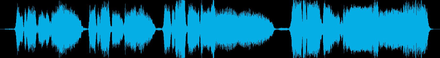 バースデーソングを生の4声アカペラでの再生済みの波形