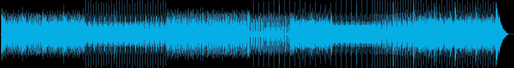 ロックとテクノの融合の再生済みの波形