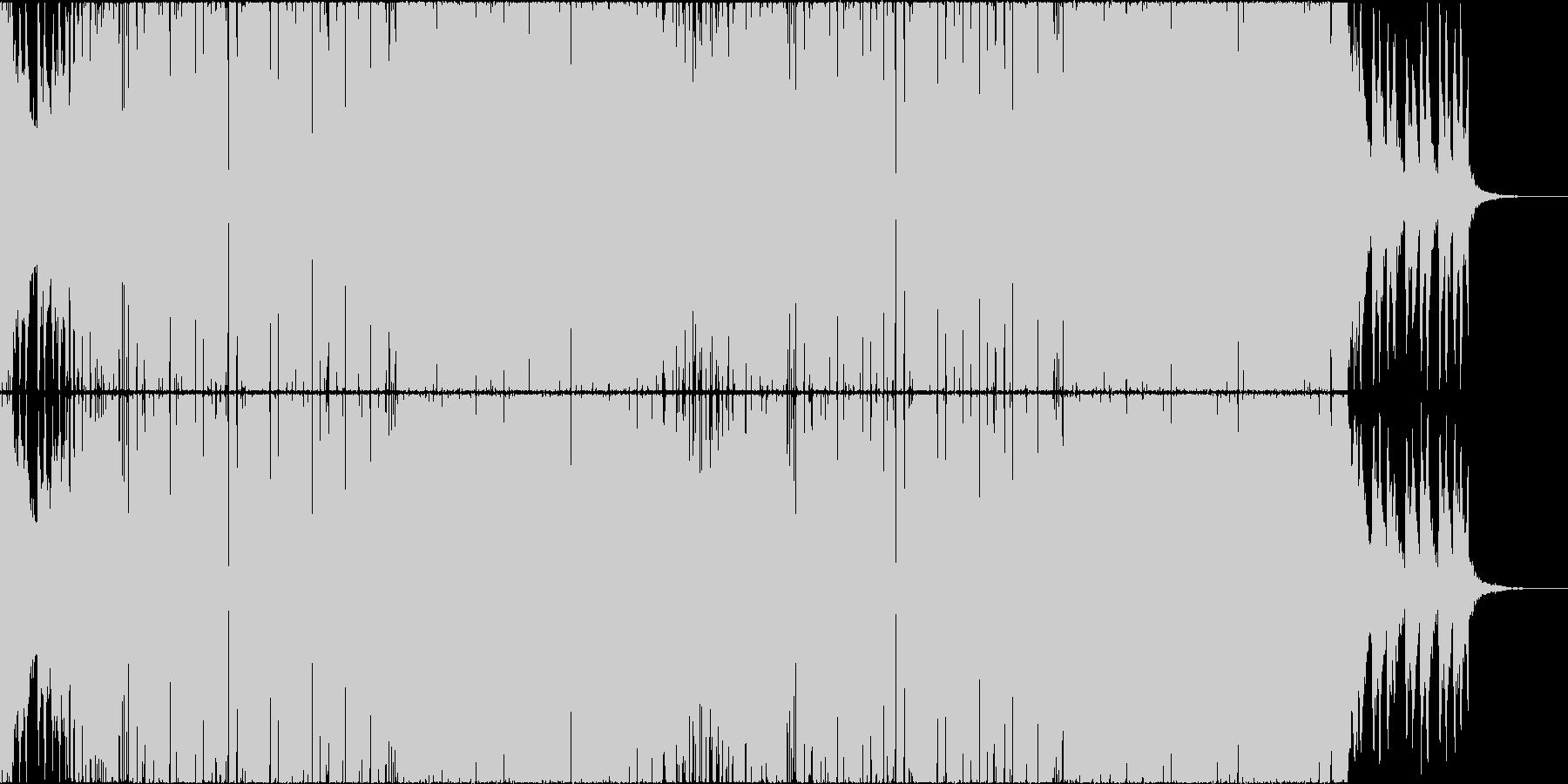 重厚でデジタルなエキサイティングEDMの未再生の波形
