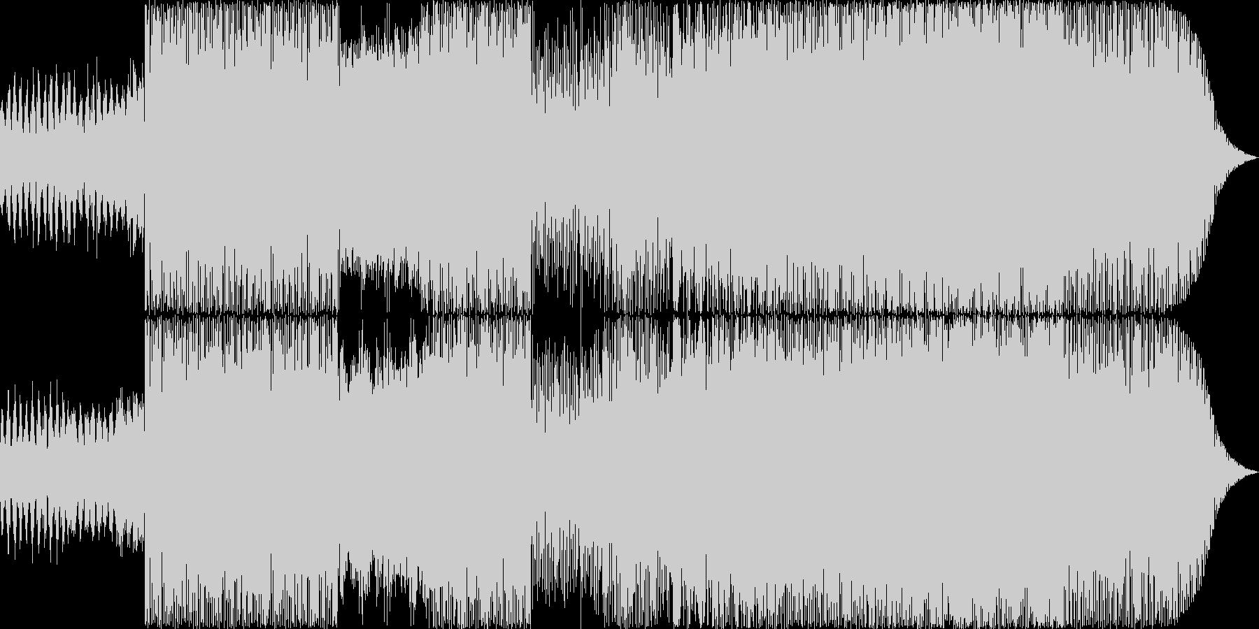 浮遊感と疾走感のあるドラムンベースの未再生の波形