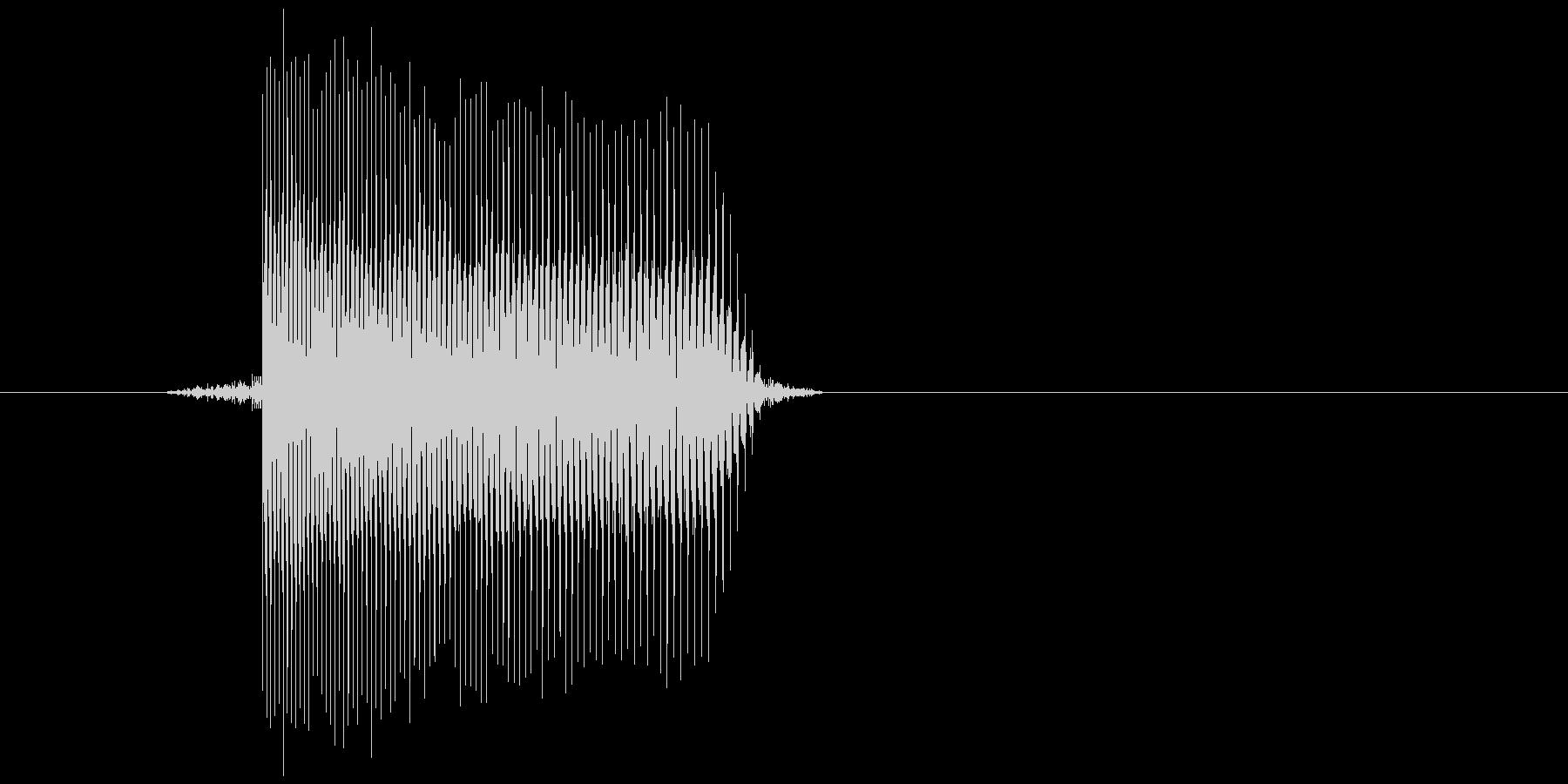 ゲーム(ファミコン風)レーザー音_009の未再生の波形