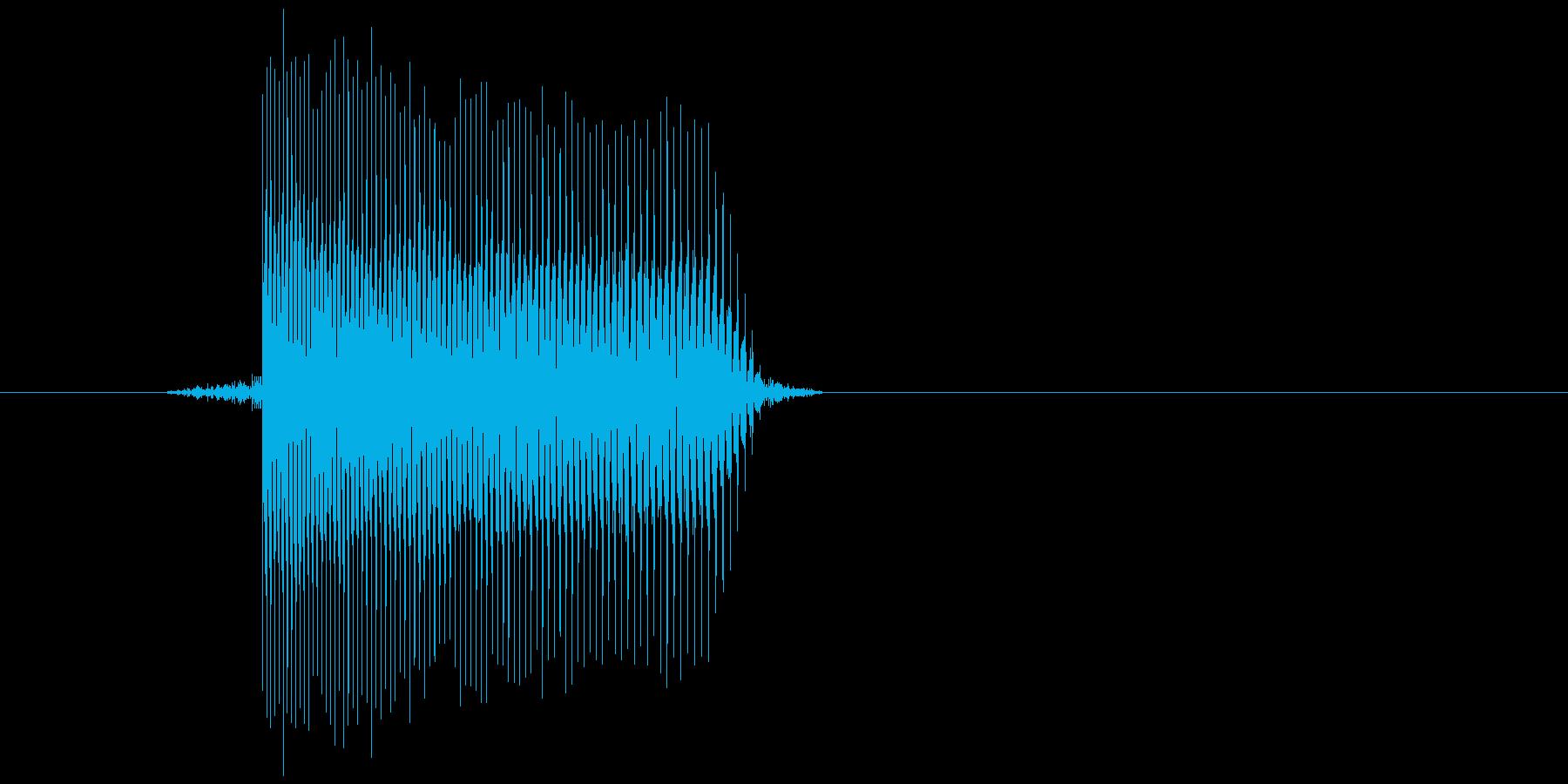 ゲーム(ファミコン風)レーザー音_009の再生済みの波形