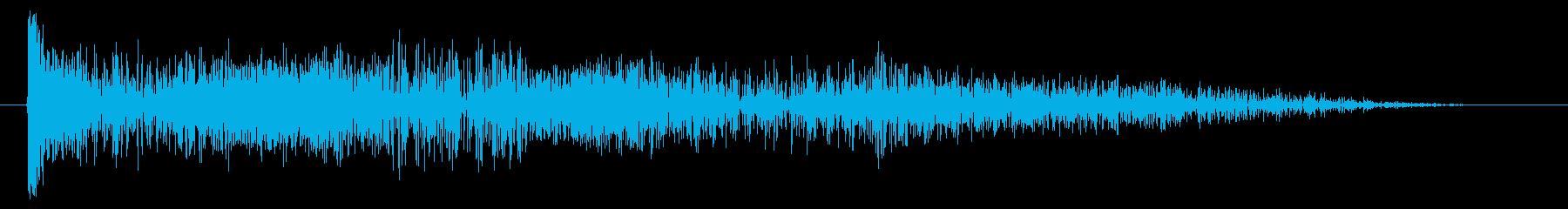 造粒電子伝送8ビット調整サウンドの再生済みの波形