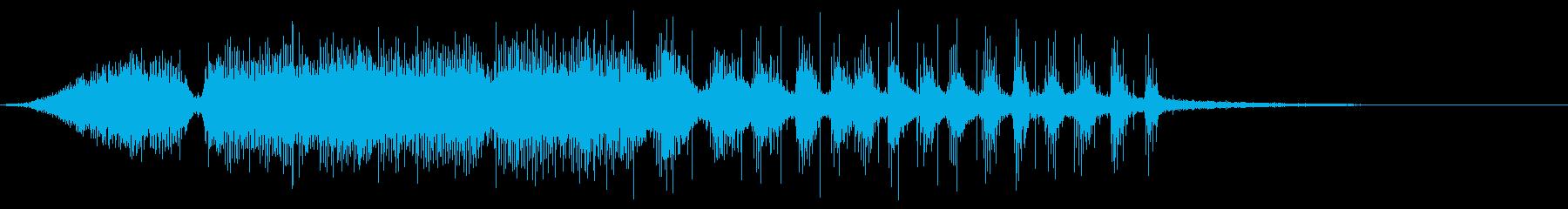 KANTハロウィン系きしんだドア音の再生済みの波形