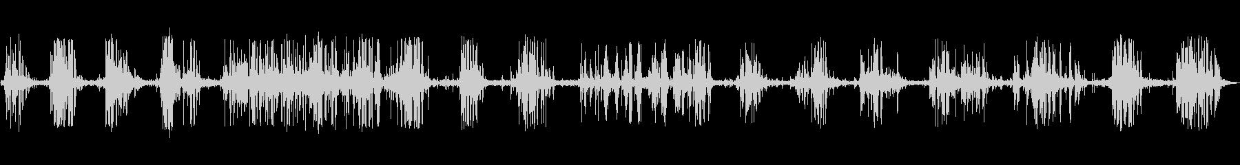 旧キャリッジ:さまざまなきしみ音と...の未再生の波形