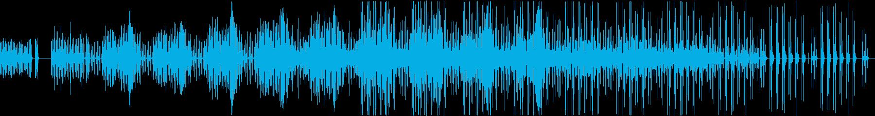 不可解で面白く変なミニマル曲の再生済みの波形