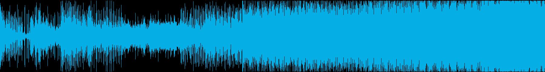 電子楽器。渦巻く催眠効果のある風変...の再生済みの波形