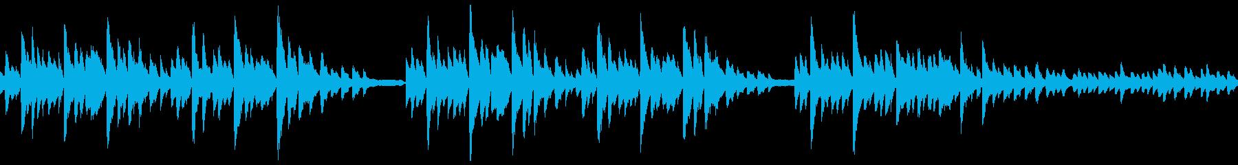 ピアノ独奏のバラードの再生済みの波形