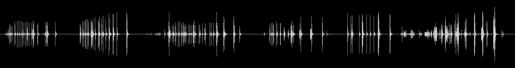 短い、ラスパイバルーンクリークの未再生の波形