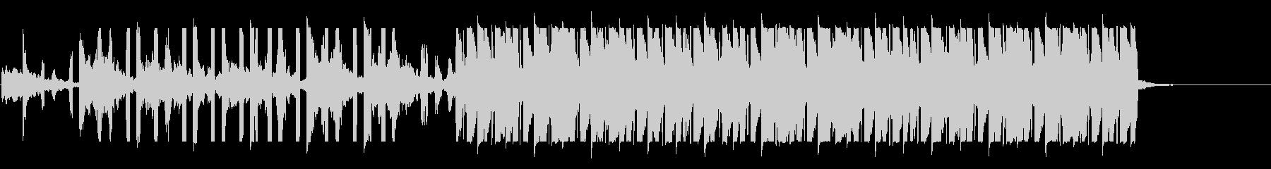 リードのフルートが印象的なハウスの未再生の波形