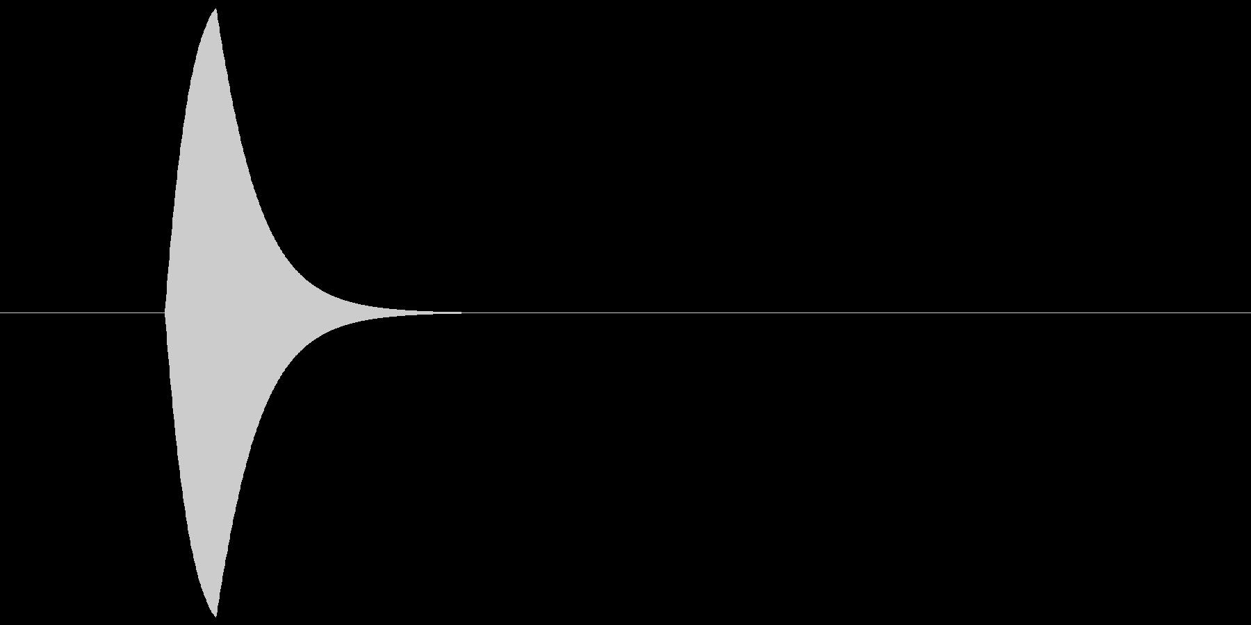 ピンの未再生の波形