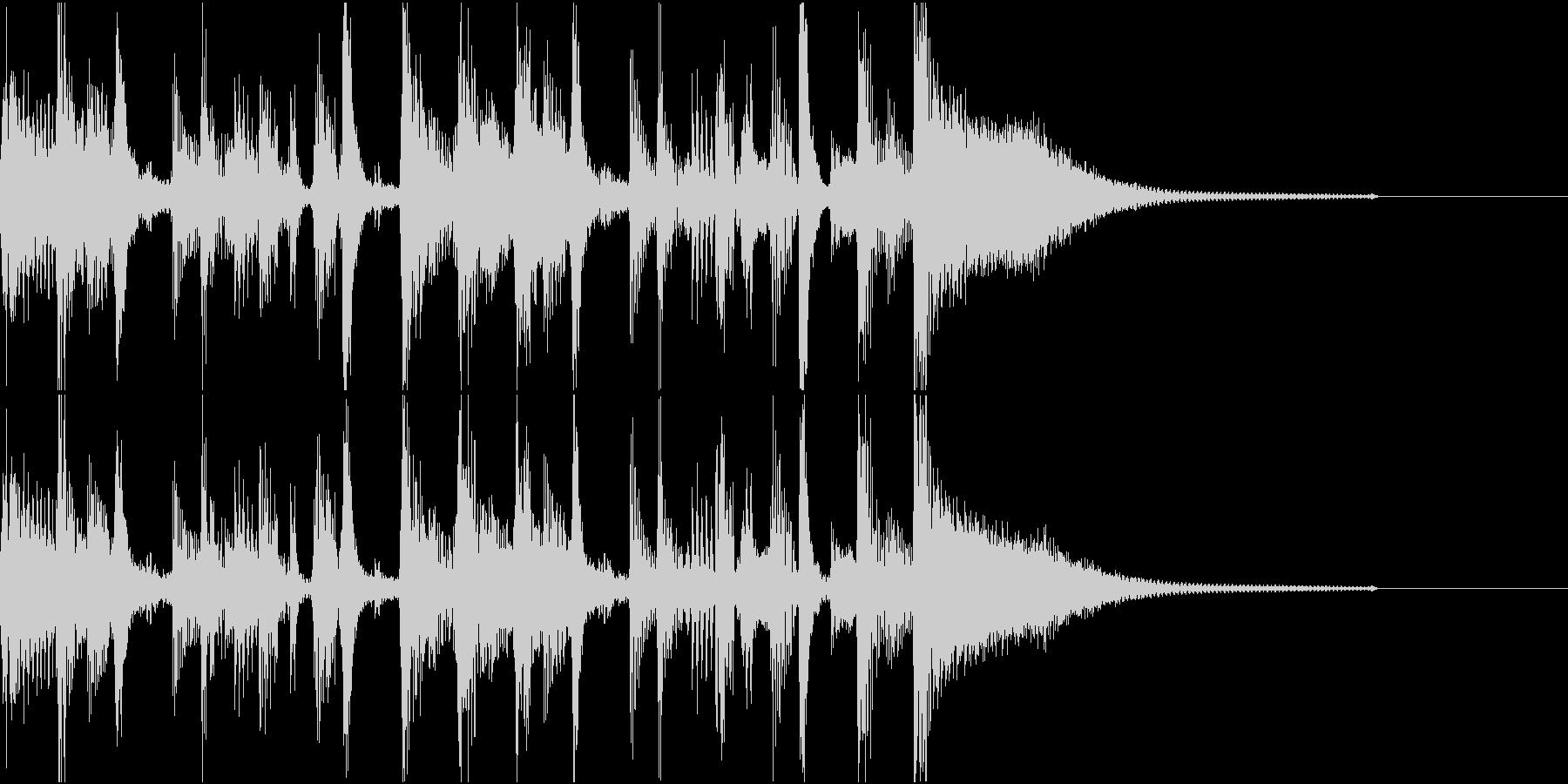 生演奏ギター ファンクジングルの未再生の波形