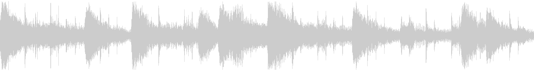 <ショートループ> ピアノ③+ビートBの未再生の波形