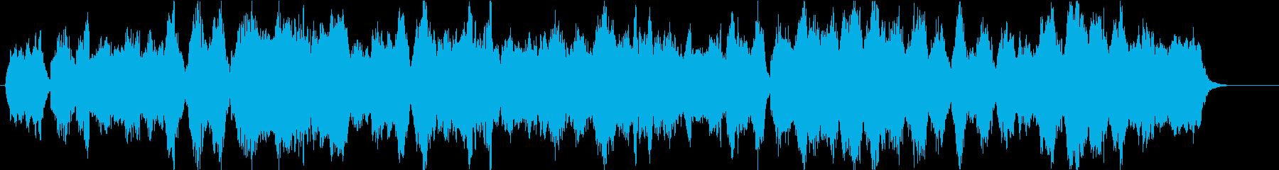 シネマティックな切ないオーケストラ楽曲の再生済みの波形