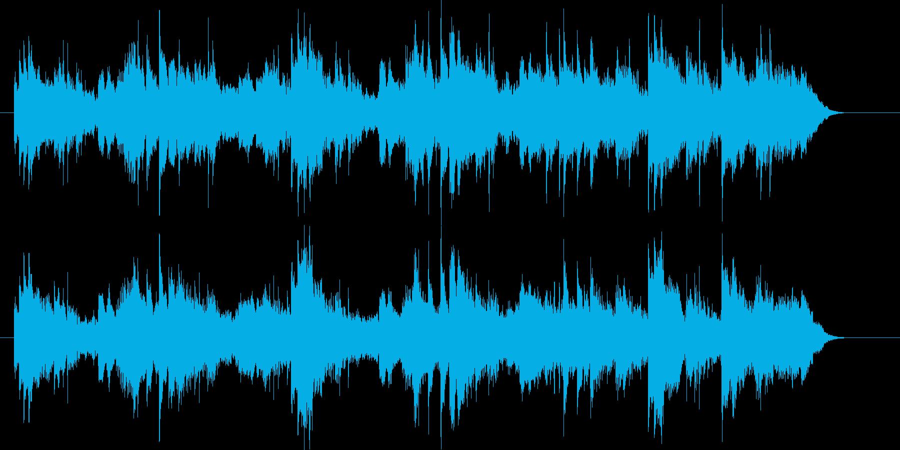 優しい旋律のイージーリスニングの再生済みの波形