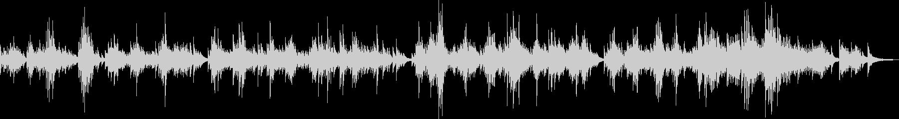 感動的なピアノバラード(温かい・優しい)の未再生の波形