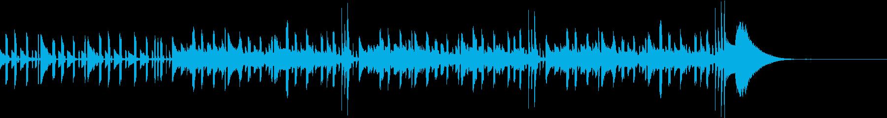 波のせせらぎの音とほのぼのゲームOPの再生済みの波形