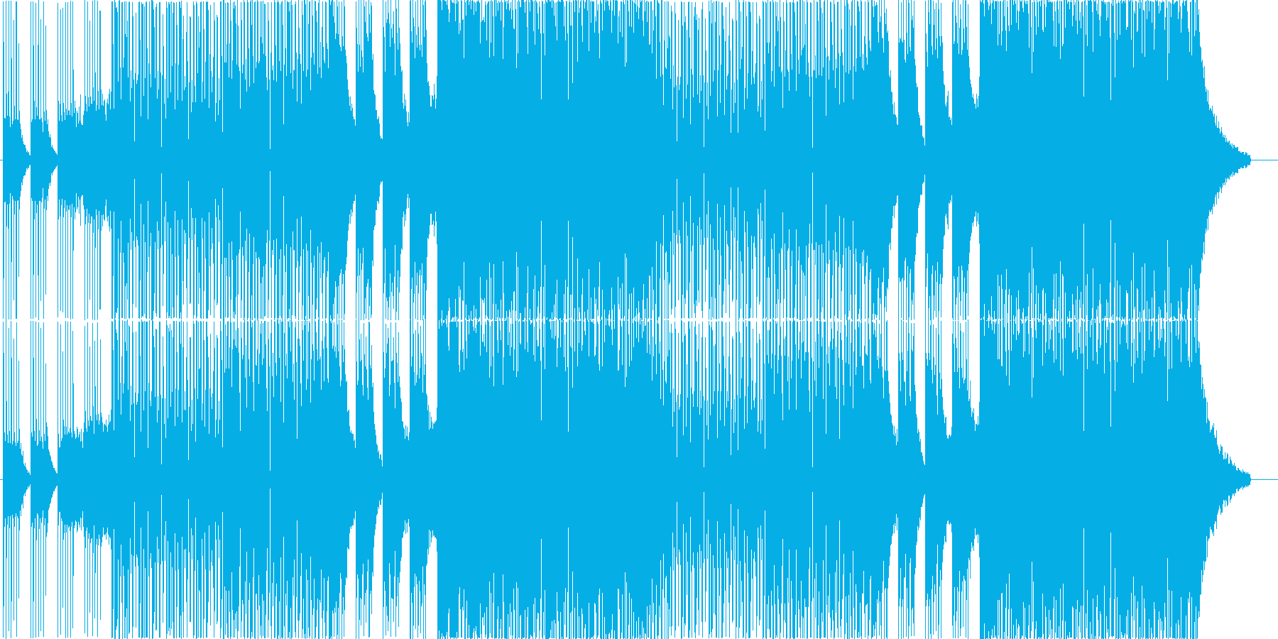 EDMクラブ系ダンスミュージック_1の再生済みの波形
